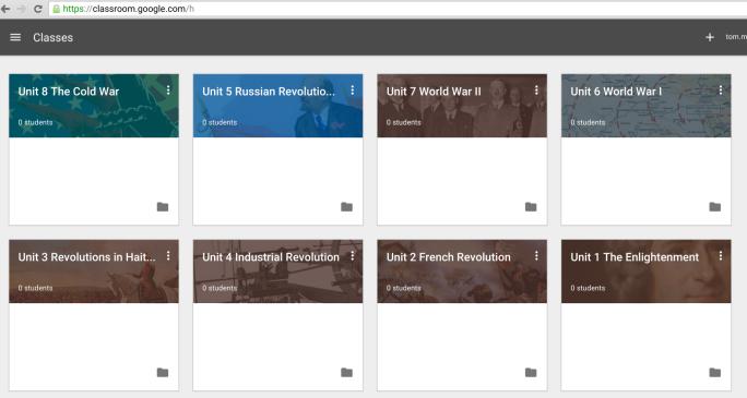 Google Classroom Unit by Unit