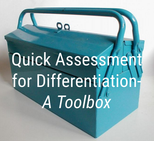 Quick Assessment for Differentiation Updated