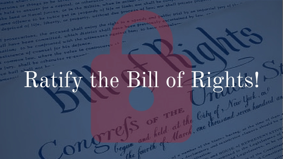 Ratify the Bill of Rights Splash Image