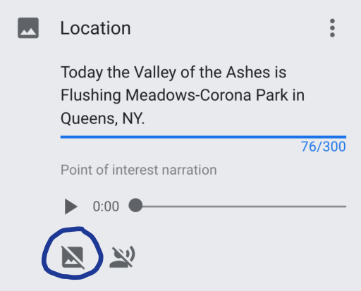 Screen capture of a Tour Creator point of interest.